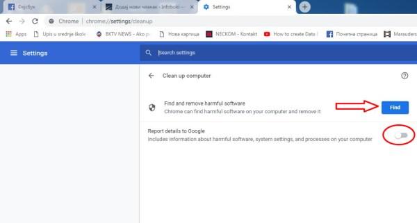 Očistite računar od nepoželjnog softvera pomoću Chrome-a!
